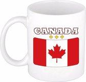 Beker / mok met de Canadese vlag - 300 ml keramiek - Canada