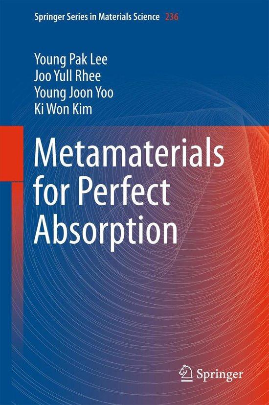 Omslag van Metamaterials for Perfect Absorption