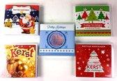 Luxe Kerstkaart en Nieuwjaarskaart - Stans en Glitter - met envelop  - 13x12cm - 5 x 40 stuks