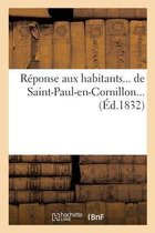 Reponse aux habitants de Saint-Paul-en-Cornillon