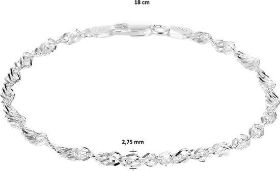 Glams Armband Singapore 2,75 mm 18 cm - Zilver