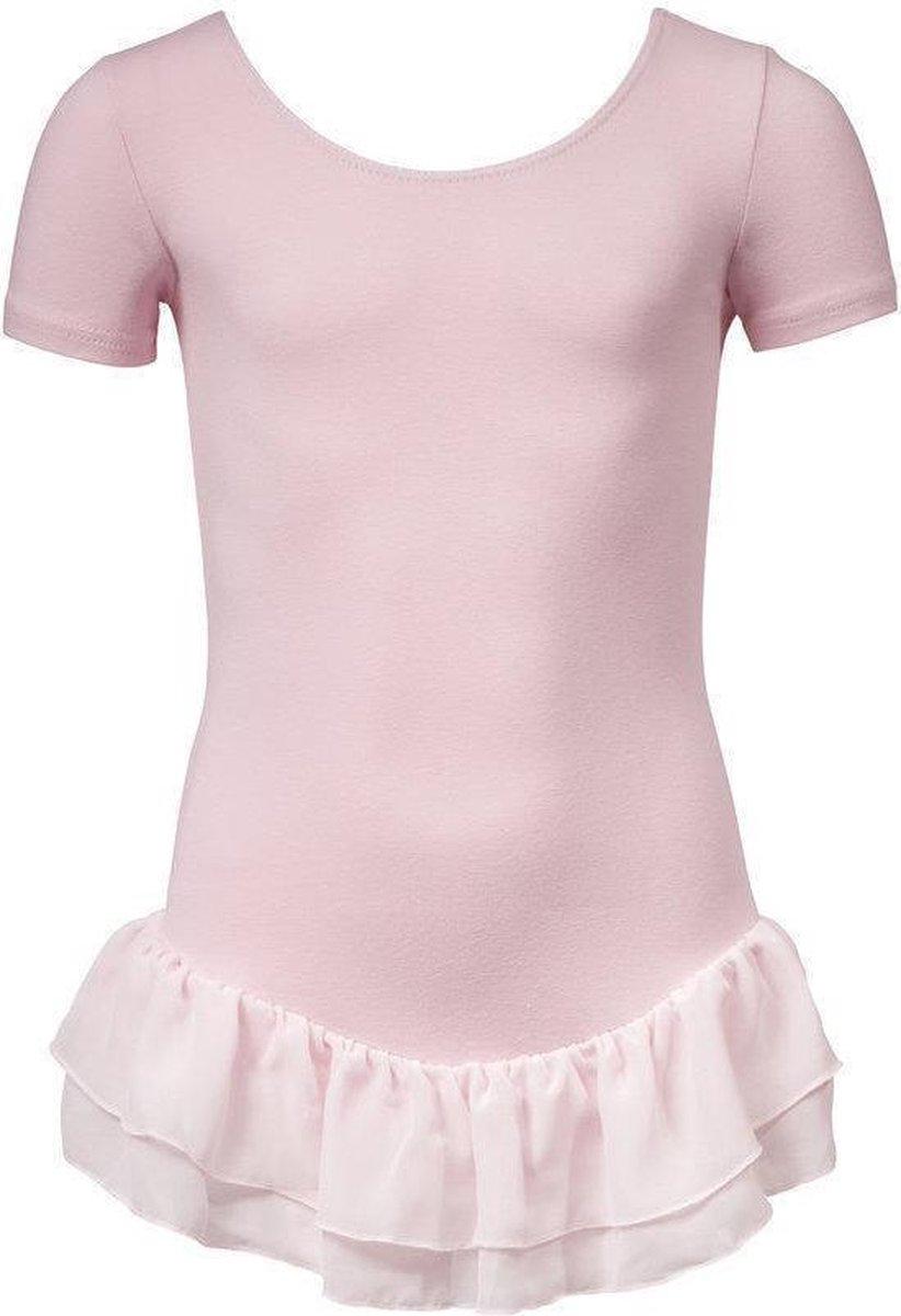 Papillon - Balletpak - Meisjes - Maat 116 - Rose - Papillon