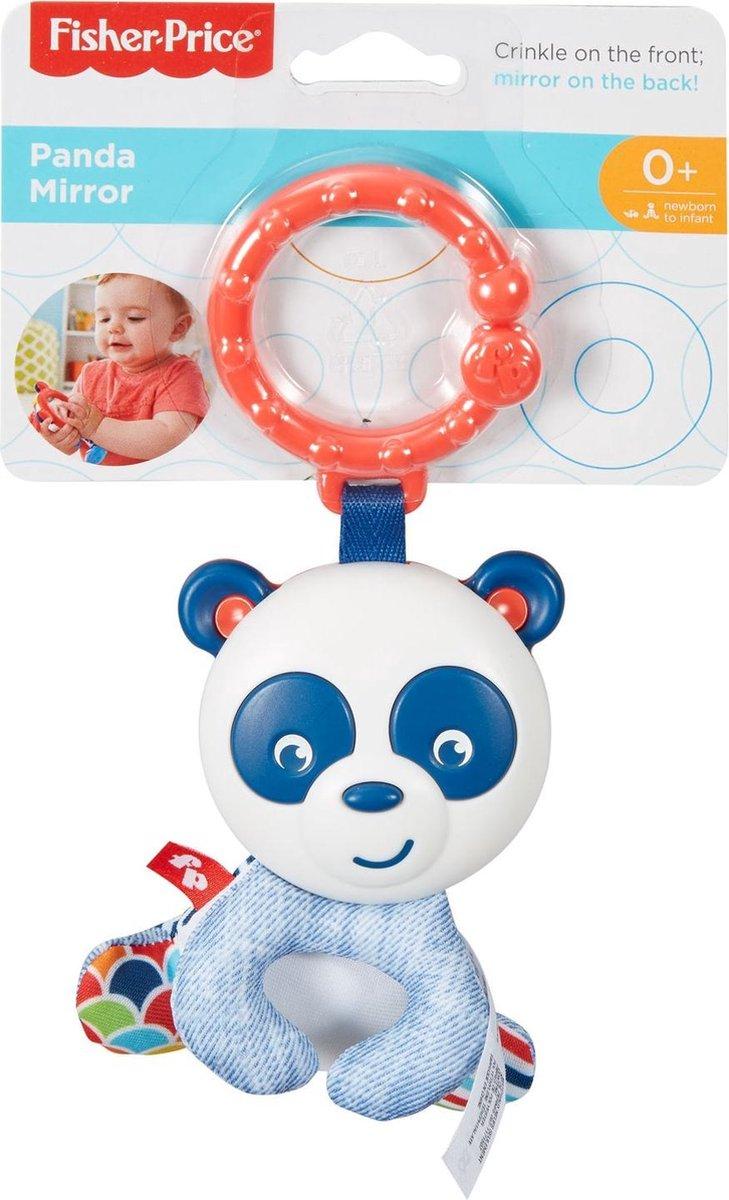 Fisher Price - Panda Spiegel - Babyspeeltje met handige ribevestigingsring