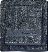 Marc O'Polo Melange  Gastendoek - 30x50 - Anthracite/silver