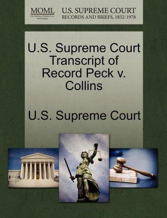 U.S. Supreme Court Transcript of Record Peck V. Collins