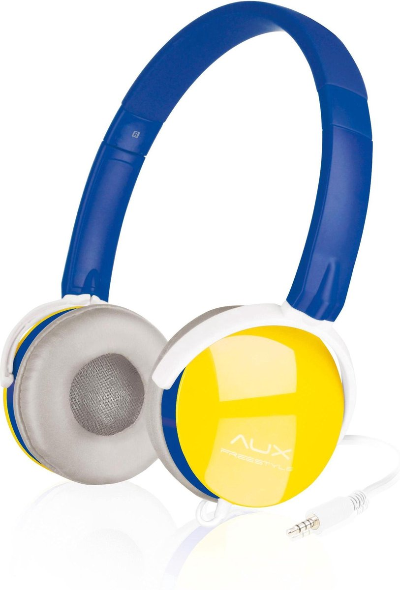 Speedlink AUX - FREESTYLE Stereo Headset, blue-yellow