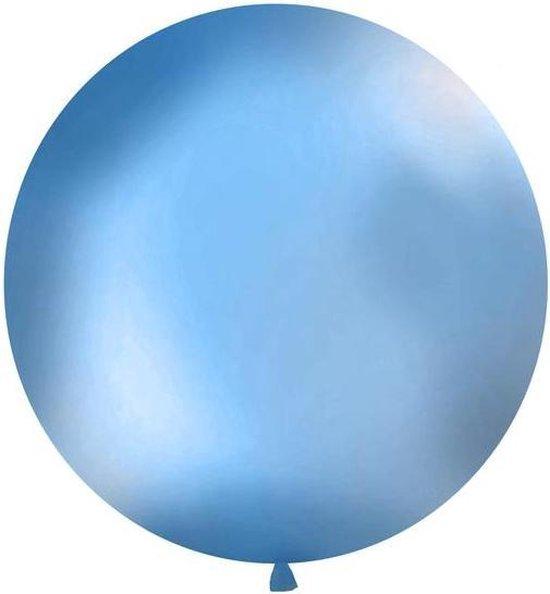 Ballonnen 1m, rond, Pastel blauw
