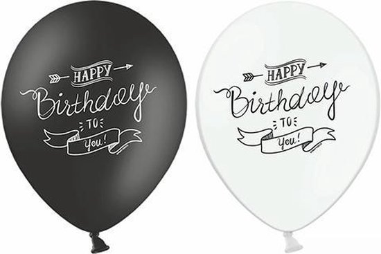 Ballonnen Happy Birthday classic 50 stuks