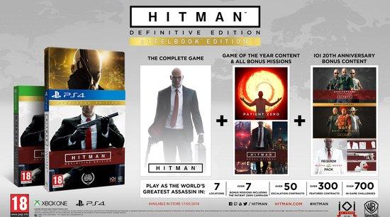 Hitman: Definitive Edition - Day One Steelbook Edition - PS4 (2018) - Warner Bros. Entertainment
