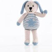 Pebble knuffel - Konijn - Blauw met ster