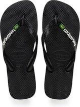 Havaianas Brasil Logo Unisex Slippers - Black - Maat 33/34