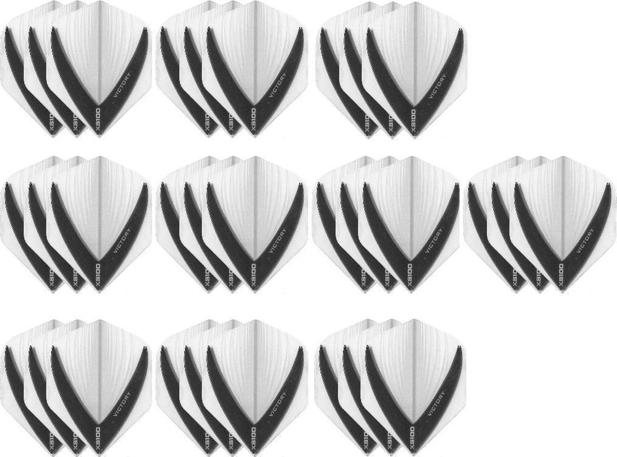 10 Sets (30 stuks) Stevige XS100 Vista - flights - Multipack - Clear