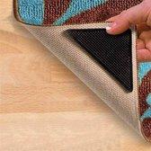 Anti-slip Sticker - Nooit meer uitglijden op je tapijt - 4 stuks - Tapijt Tape Dubbelzijdig - Dubbelzijdige Vloerkleed Kleefband - Verwijderbaar Gripstickers voor op douchemat en vloerkleed - Herbruikbaar - Tapijt sticker - Tapijt grip -