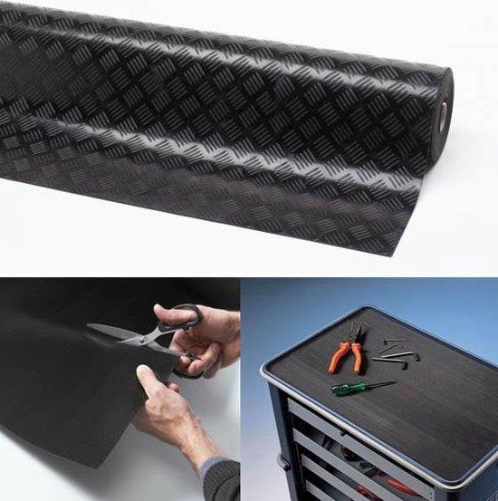 Rubber loper / Antislip / Check n Roll 3 mm / 140 cm x 10 mtr / zwart