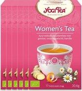 Yogi Tea Women's Tea Voordeelverpakking- 6 pakjes van 17 theezakjes