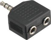 Q-link stereo splitter 3.5 millimeter 1ste male/2de female