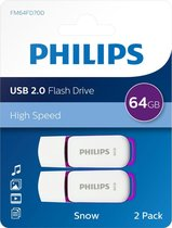 Philips USB flash drive Snow Edition 64GB, USB2.0, 2-pack