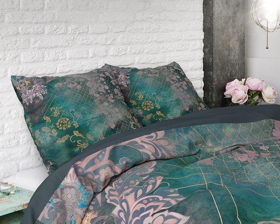Dreamhouse Tiran Flower Dekbedovertrekset - Lits-Jumeaux - 240x200/220 2 kussenslopen 60x70 - Groen