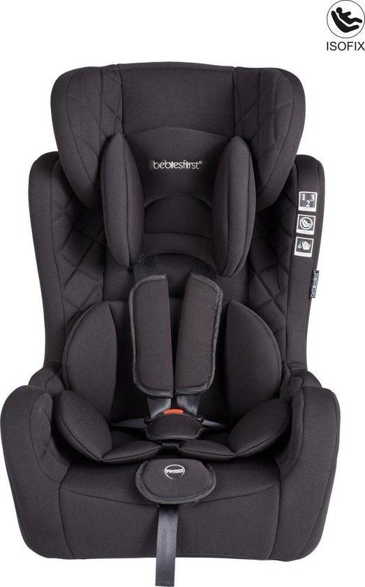 Product: Bebies First Autostoel Grow up Isofix - Groep 1/2/3 - Zwart, van het merk Bebies First