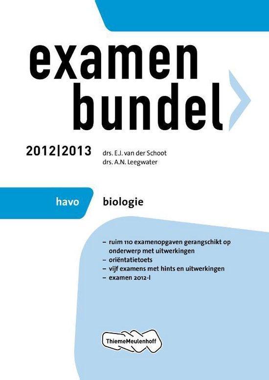 Examenbundel HAVO - Biologie 2012/2013 - none pdf epub