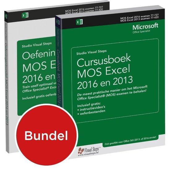 Cursusboek MOS Excel 2016 en 2013 + oefeningenbundel - Studio Visual Steps |