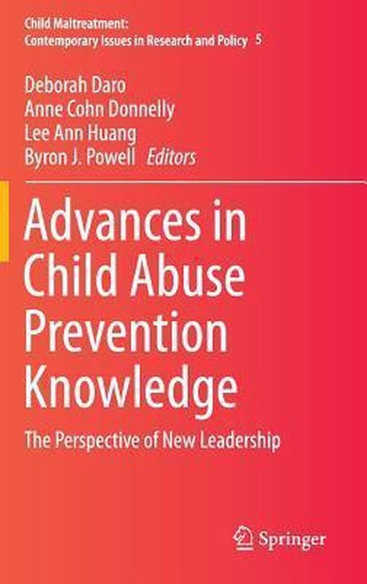 Omslag van Advances in Child Abuse Prevention Knowledge