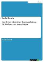 Drei Typen öffentlicher Kommunikation - PR, Werbung und Journalismus