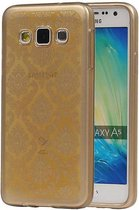 Samsung Galaxy A5 Hoesje TPU Paleis 3D Backcover Goud