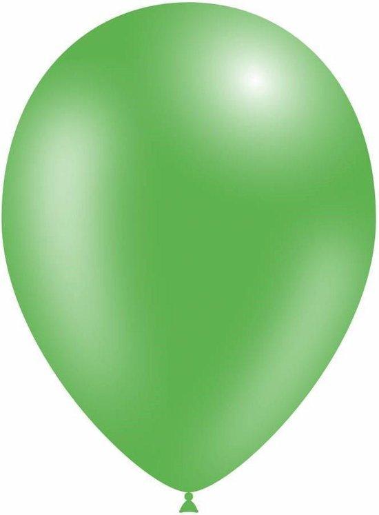 Ballonnen Metallic Groen 18 cm 25 stuks