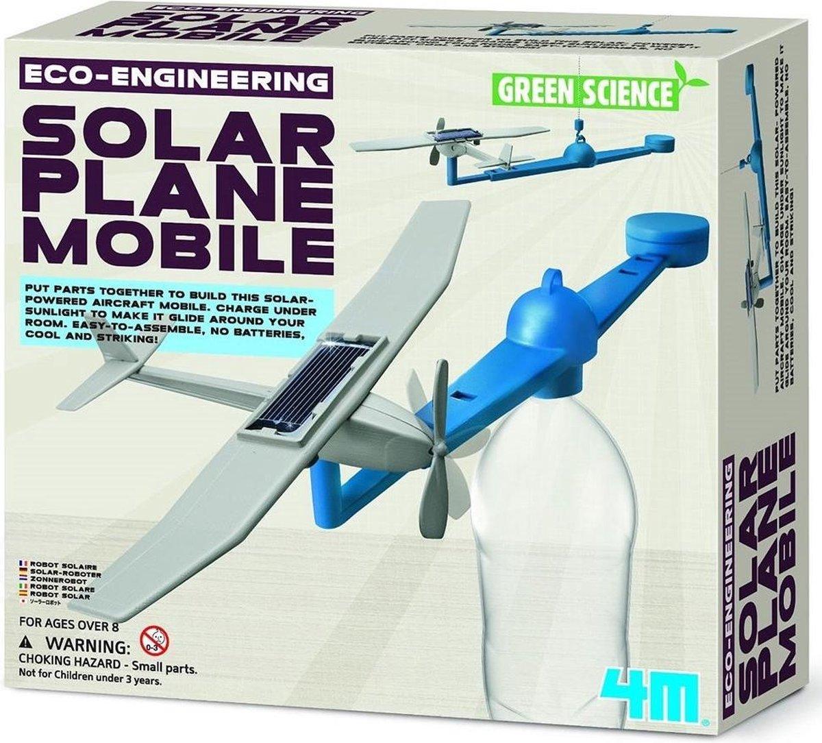 4m Kidzlabs Green Science/eco-engineering: Solar Plane Mobile