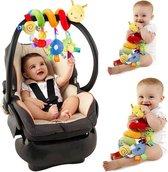 Baby spiraal – Baby Knuffels - Baby speelgoed - Baby rammelaar - boxspiraal - maxi cosi spiraal - kinderwagen speelgoed spiraal - buggy speelgoed - auto knuffel - baby spiraal speeltje – Autostoel ketting - kinder wagen knuffels