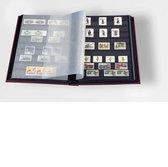 Postzegelinsteekalbum met 64 zwarte bladzijden - Basic S 64 rood
