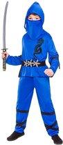 E-Carnavalskleding.nl: 116cm - e-Carnavalskleding.nl Ninja pak power blauw