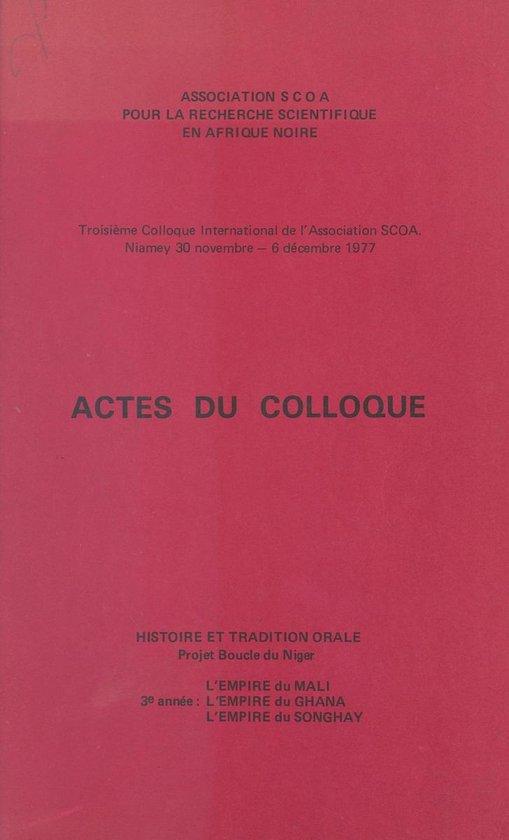 Actes du troisième Colloque international de l'Association SCOA