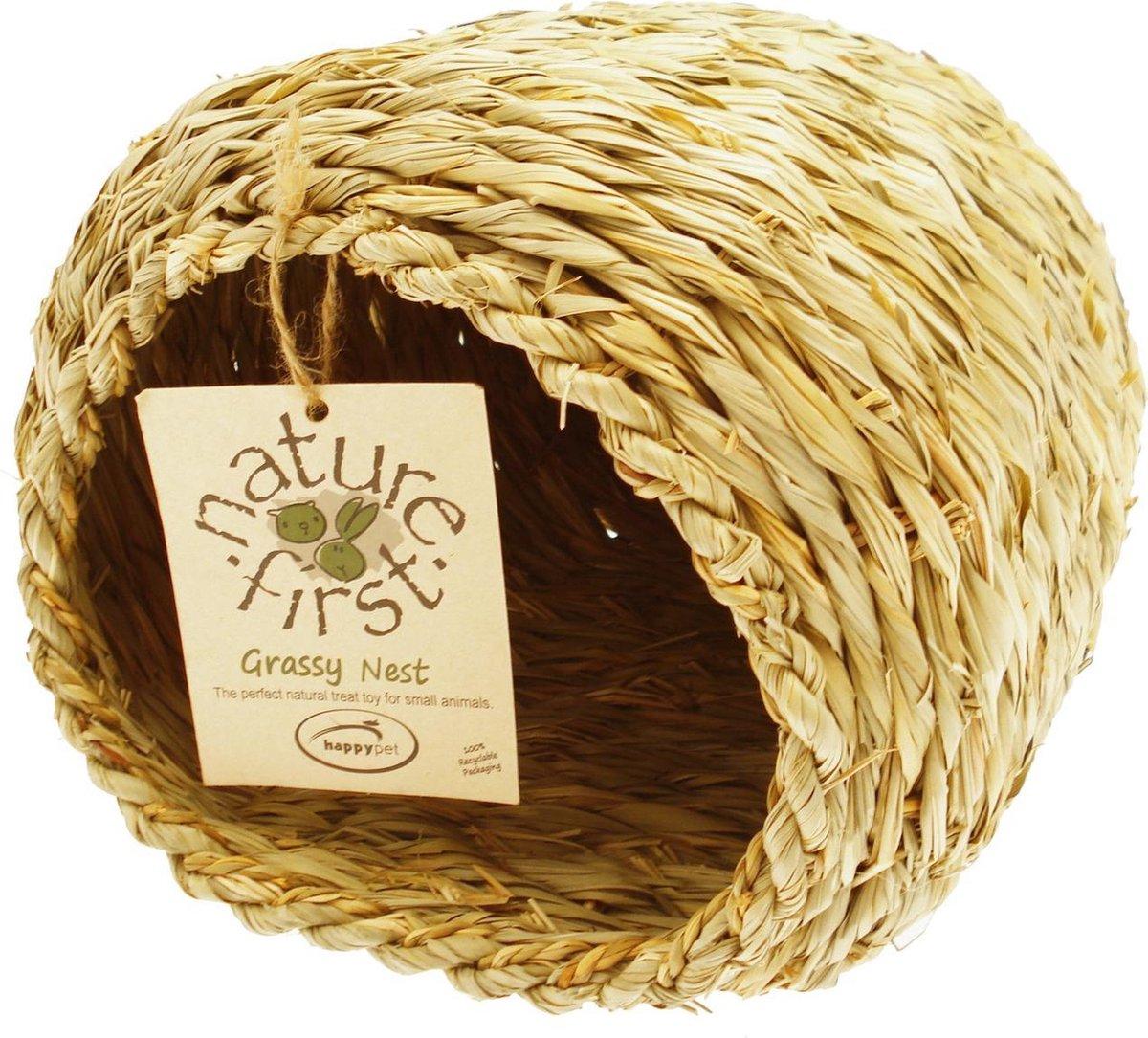 Happy Pet Grassy Nest - Nestplekje voor dieren - Bruin - 24 cm - Happy Pet