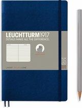 Leuchtturm1917 B6+ Paperback Notitieboek met zachte kaft lined Navy