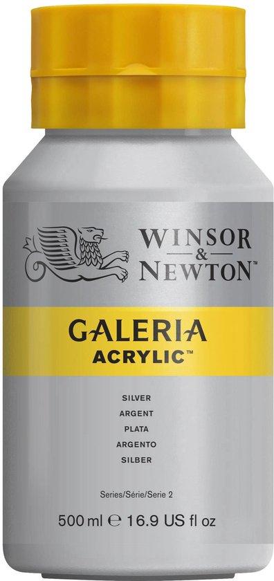 Winsor & Newton Galeria Acrylverf 500ml 617 Silver