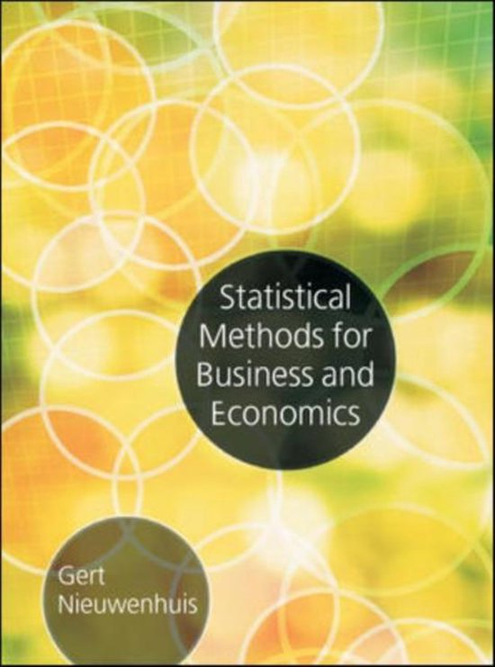 Boek cover Statistical Methods for Business and Economics van McGraw-Hill (Paperback)