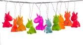 Dhink Eenhoorn LED Lichtsnoer Decoratie Slaapkamer Kids- Regenboog Kleuren