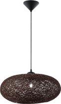 EGLO Campilo - Hanglamp - 1 Lichts - Ø450mm. - Zwart - Bruin