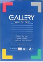 Gallery schrijfblok formaat A4 gelijnd 100 vel