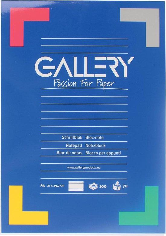 Afbeelding van Gallery schrijfblok formaat A4 gelijnd 100 vel
