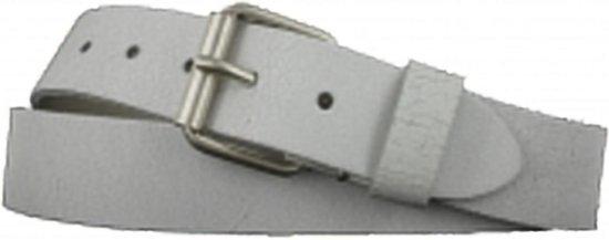 Leren Riem – Crack Wit – 4 cm Breed – Maat 105 – Met Nikkelvrije gesp