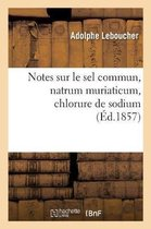 Notes sur le sel commun, natrum muriaticum, chlorure de sodium