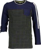 Bellaire Jongens t-shirts & polos Bellaire Kees ls t-shirt check jersey groen 158/164