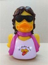 CelebriDucks THE FLOATING STONES Pop Music Rubber Duck  MICK JAGGER THE ROLLING STONES   11cm  bekendste badeendjes merk uit de USA
