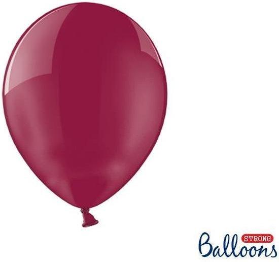 """""""""""""""Strong Ballonnen 27cm, Crystal Maroon (1 zakje met 100 stuks)"""""""""""""""