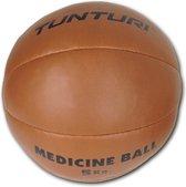 Tunturi  Medicine Ball - Medicijnbal - Crossfit ball - 5 kg - Bruin kunstleder
