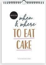 Verjaardagskalender  - When & where to eat cake - Studio Hoeked