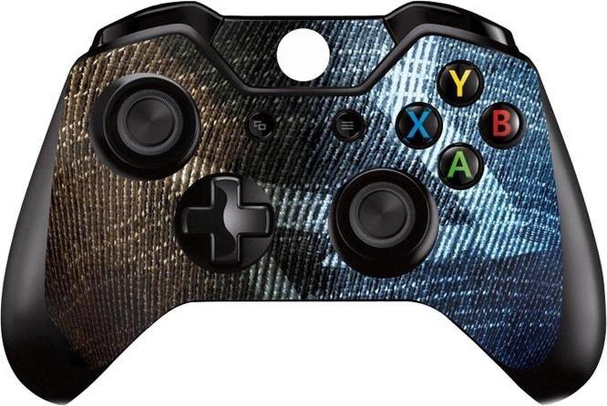 2 Xbox Controller Sticker   Xbox Controller Skin   Blue Brown   Xbox Controller Bruin Blauw Skin Sticker   2 Controller Skins - JM Commerce
